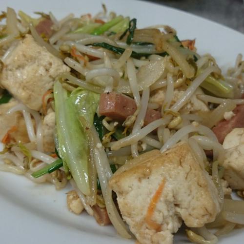 沖繩島豆腐炒豆芽菜 とうふチャンプルー