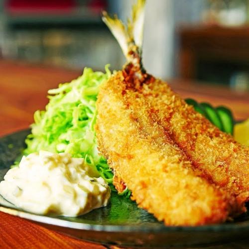 酥炸竹筴魚 アジフライ
