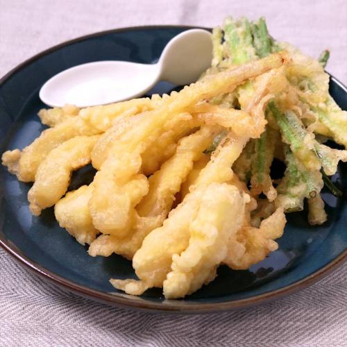 島蔥天婦羅(蕗蕎)   島らっきょの天ぷら