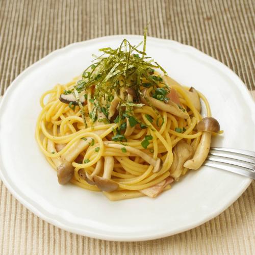 沖繩香菇和風義大利麵        県産キノコの和風パスタ